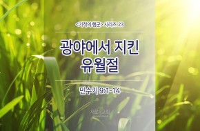 2017-06-18 주일설교 - 광야에서 지킨 유월절