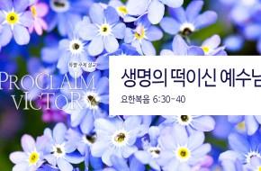 2018-08-12 생명의 떡이신 예수님 (이준희 목사)