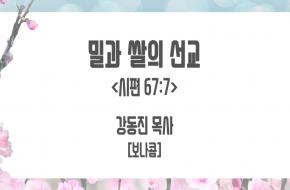 2021-04-21 밀과 쌀의 선교 (강동진 목사)
